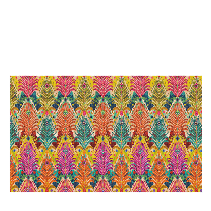 Les Ottomans Ikat Peacock Cotton Tablecloth by Matthew Williamson