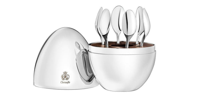 Christofle - Mood 6 Espresso Spoons in Chest