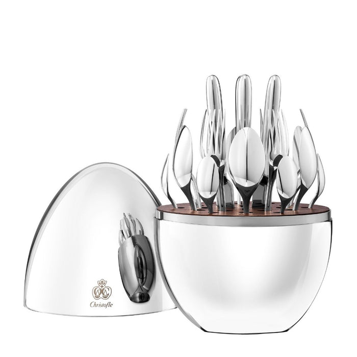 Christofle - Mood 24 Piece Silver Plated Flatware Set