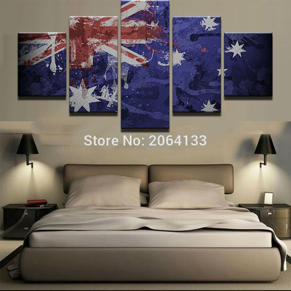 5 Pieces Vintage Australia Flag - My Home Wall