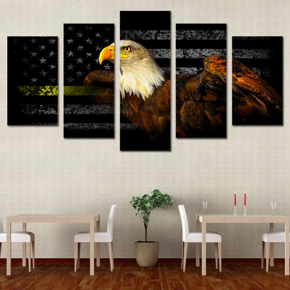 5 pcs American Freedom Eagle Flag - My Home Wall