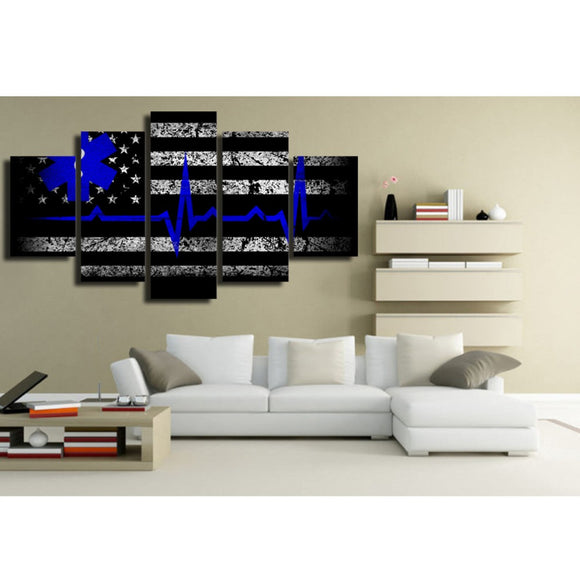 Thin Blue Line -Medic 5 piece - My Home Wall