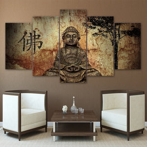 5 piece canvas art Buddha paintings - My Home Wall