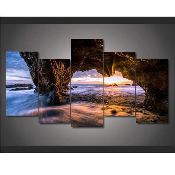 5 Pieces El Matador State Beach Sunset - My Home Wall