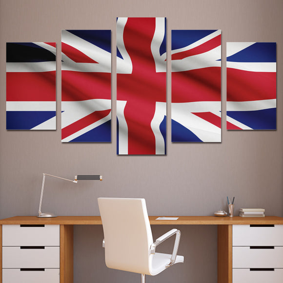 5 Panel British United Kingdom Flag - My Home Wall