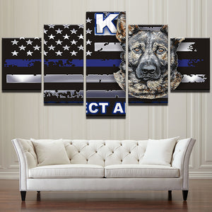 K9 Thin Blue Line - My Home Wall