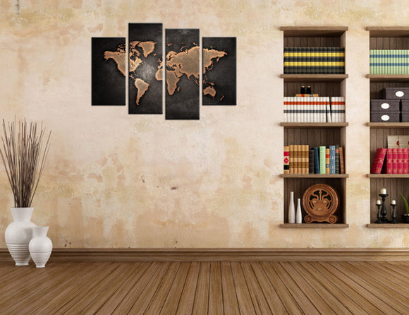 World Map Canvas - My Home Wall