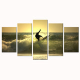 Wave Surfing Canvas - My Home Wall