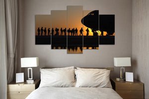 5 panel printed canvas Military - My Home Wall