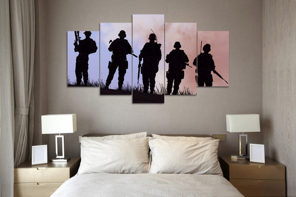 5 panel printed canvas U.S Military - My Home Wall