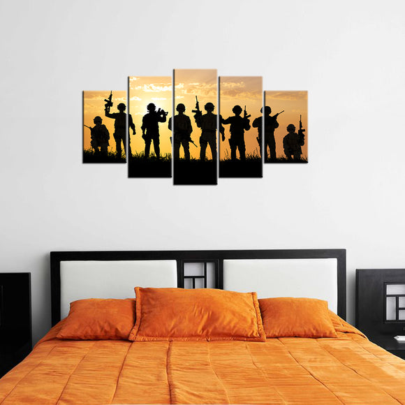 American Soldiers Canvas - My Home Wall