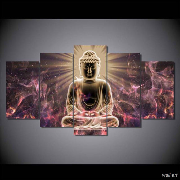 5 Pieces Buddha Zen Wall Art - My Home Wall