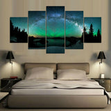 5 Pieces Aurora abstract - My Home Wall