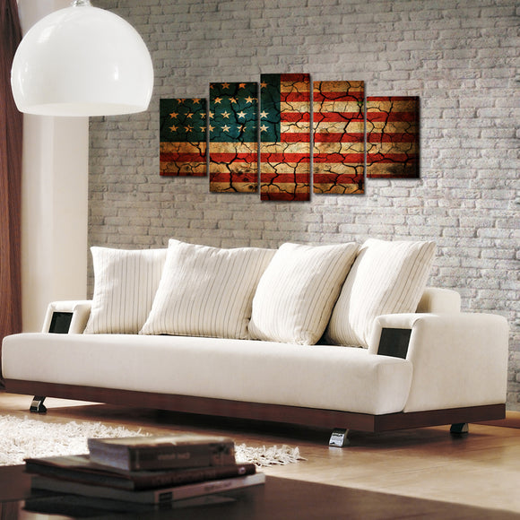 USA Flag Canvas - My Home Wall