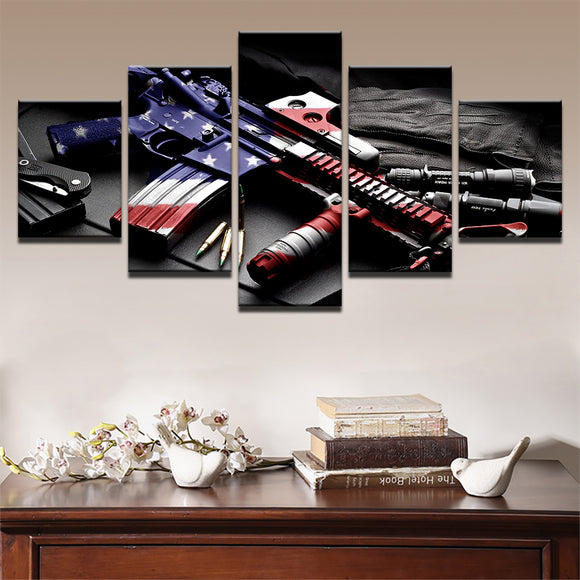 5 Pieces Red,White and Blue M4 - My Home Wall