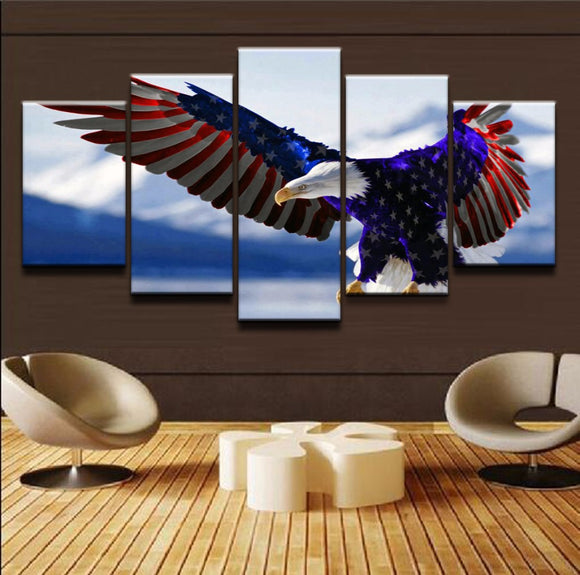 5 Pieces America Bald Eagle - My Home Wall