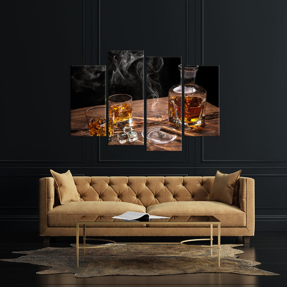 Glass of Whiskey Canvas - My Home Wall