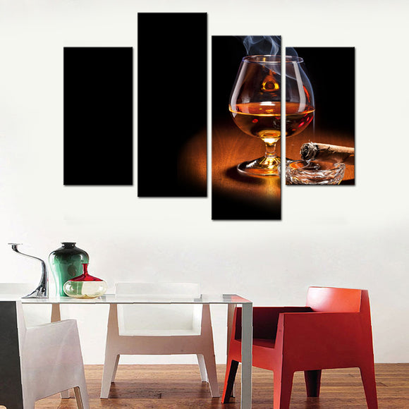 Liquor and Cigar Canvas - My Home Wall