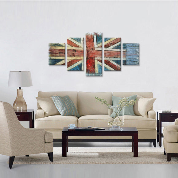 Vintage England Flag Canvas - My Home Wall