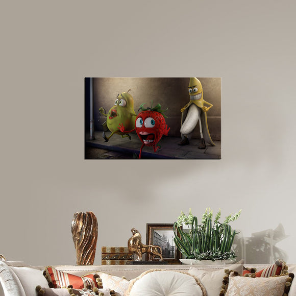 Funny Fruit Canvas - My Home Wall