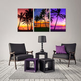 Tropical Palm Trees Canvas - My Home Wall