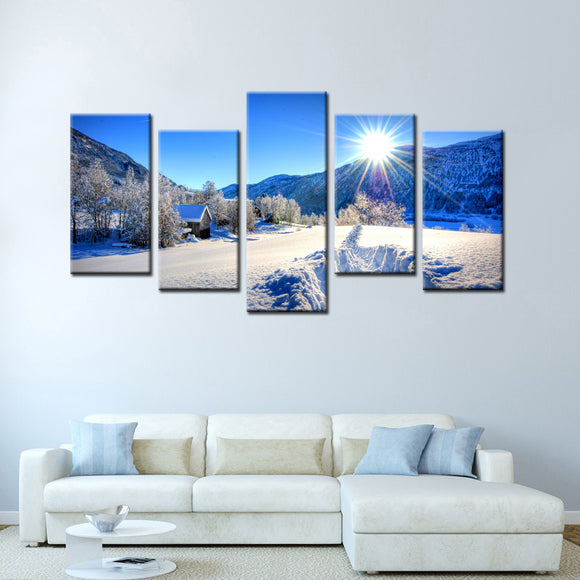 5 Panel Modern Landscape Paintings Canvas - My Home Wall