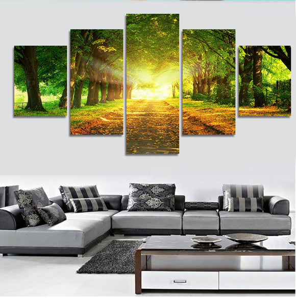 5 Pcs Tree Sunshine - Unframed - My Home Wall