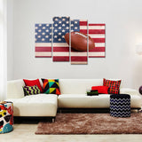 Football - American Flag Canvas - My Home Wall