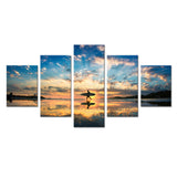 Walking On Sunset Beach Canvas - My Home Wall