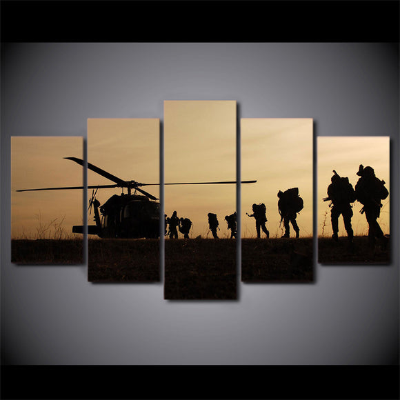 5 piece canvas art Helo Op - My Home Wall