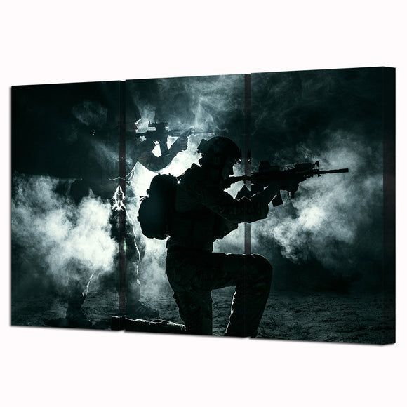 3 Panel Military Wall Art Canvas - My Home Wall