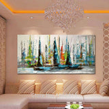 Unframed Abstract wall art pictures for living room - My Home Wall
