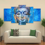 5 piece Canvas Prints Buddha statue - My Home Wall