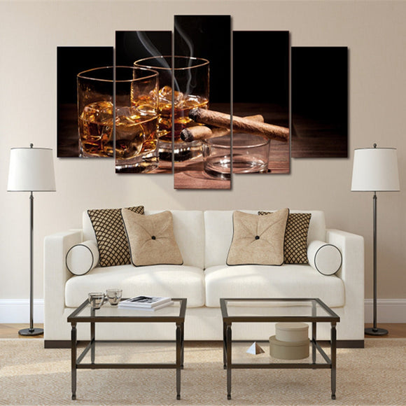 5 Pieces Ice Wine Glass Cigar - My Home Wall