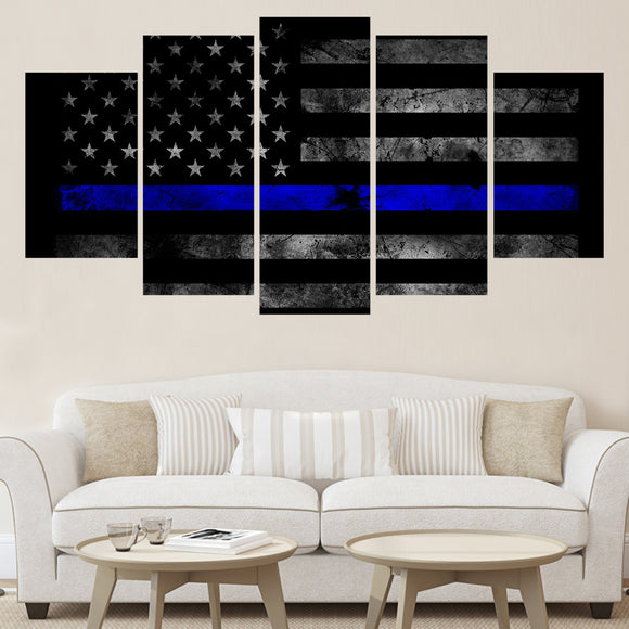 Thin Blue Line U.S Flag - Unframed - My Home Wall