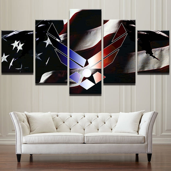 Air Force - 5pcs American Flag - My Home Wall