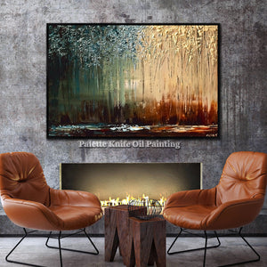 Unframed - abstract landscape acrylic painting Wall art - My Home Wall