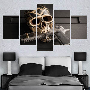 Modern Skull Pistol - My Home Wall