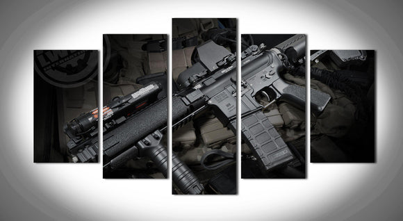 5pcs Rifle Canvas Painting - My Home Wall