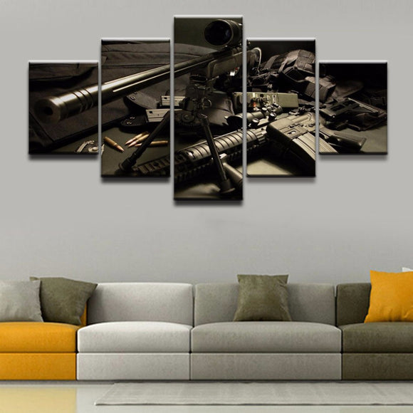 5 Pieces Sniper Rifle - My Home Wall