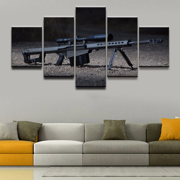 5 Panel Modern Canvas - My Home Wall