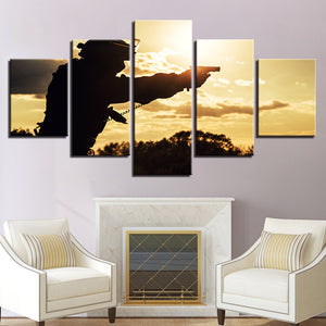 5 Pieces Sunset Military - My Home Wall