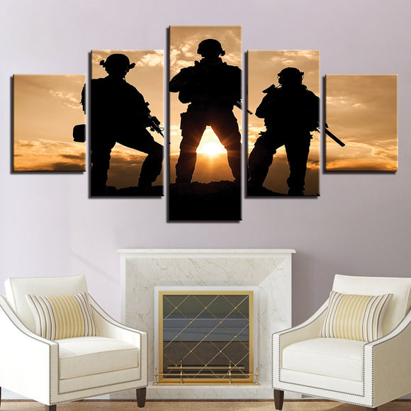 5 Pieces Tribute To American Military - My Home Wall