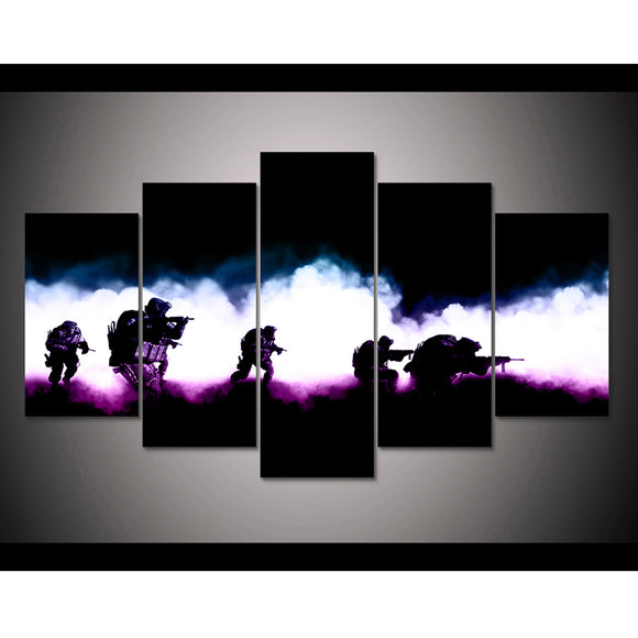 5 Panels Gallant U.S Military - My Home Wall