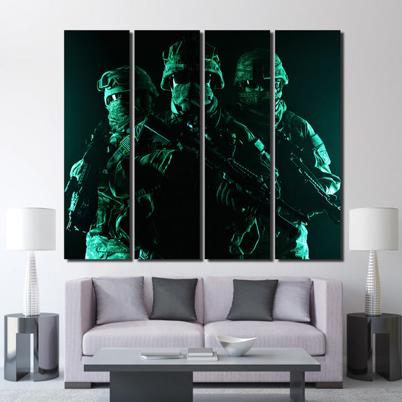 4 Pieces Masked Military - My Home Wall