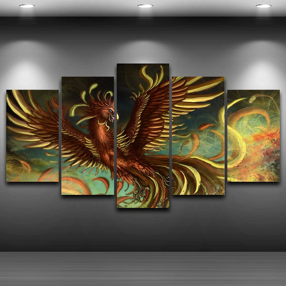 Spray Oil Painting Decoration Phoenix - My Home Wall