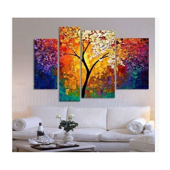 handpainted oil painting palette knife - My Home Wall