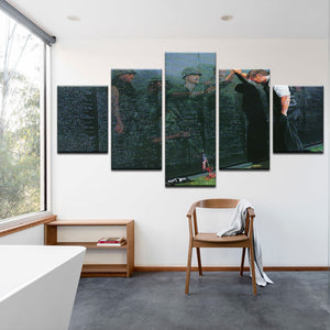 5 Pcs Vietnam Veterans Memorial Canvas Painting - My Home Wall