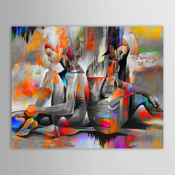 Unframed Hand Painted Oil Painting Canvas Abstract - My Home Wall