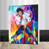 Michael Jackson Frameless Pictures Painting handmadel Oil Painting - My Home Wall